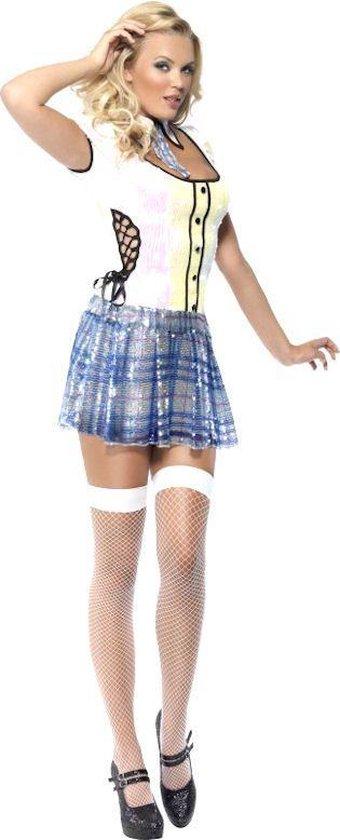 Leraar & Professor & Scholier & Student Kostuum | Fever Schoolmeisje Bling | Vrouw | Medium | Carnaval kostuum | Verkleedkleding