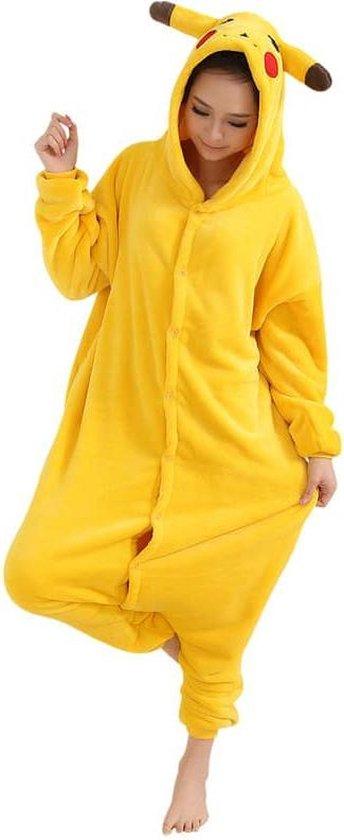 Pikachu Pokemon Onesie Verkleedkleding - Volwassenen & Kinderen - M (160-167cm)