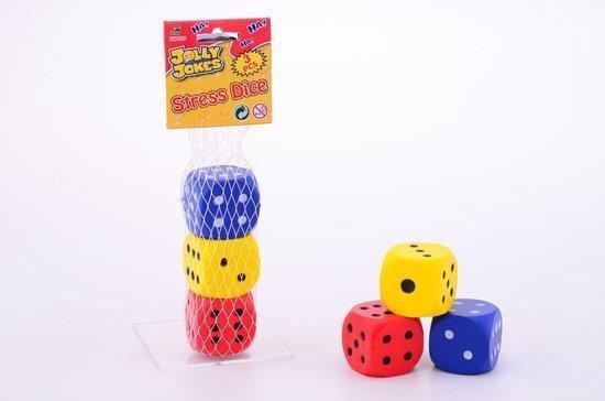 Afbeelding van het spel Jolly Jokes stress dobbelstenen 3 stuks