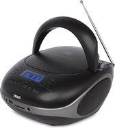 Nikkei NPRC56BK - Draagbare Radio en CD-speler met USB-Poort en Bluetooth - Zwart
