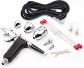 Fengda FE116C Airbrush Pistool Set – Double Action – 3x Nozzle set