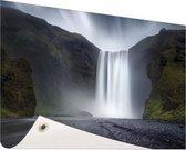 Waterval Tuinposter 120x80 cm - Tuindoek / Buitencanvas / Schilderijen voor buiten (tuin decoratie)