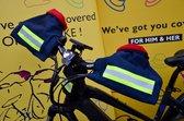 HATSOME verwarmde fietswanten (City) Neon orange