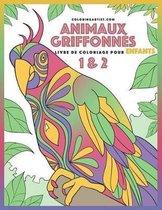Livre de Coloriage Pour Enfants Animaux Griffonn s 1 & 2