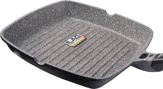 28 cm 100% PFOA vrije Grillpan - Premium Grill pan met afneembare handgreep - Steakpan Coninx voor gas, inductie en elektronische kookplaat