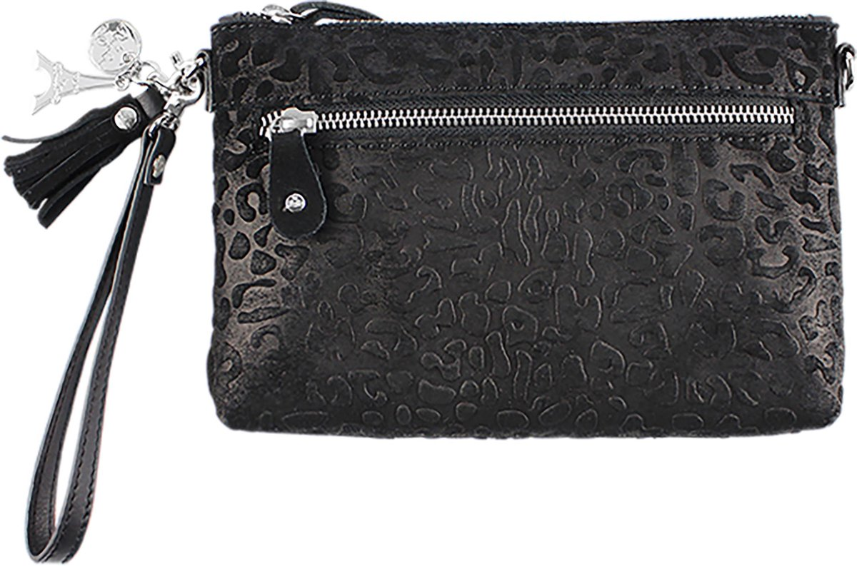 by LouLou 01POUCH Lovely Leopard Clutch - Black - Loulou Essentiels