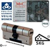 M&C anti kerntrek SKG*** 32/47 veiligheids cilinder met PKVW erkenning en PR08 beschermd profiel