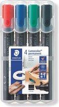 Lumocolor permanent marker beitelpunt - box 4 st