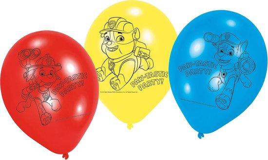 Paw Patrol Ballonnen Versiering 23cm 6 stuks