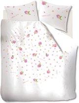Marjolein Bastin Soft Roses Dekbedovertrek - Pink - eenpersoons - 140x200/220 cm