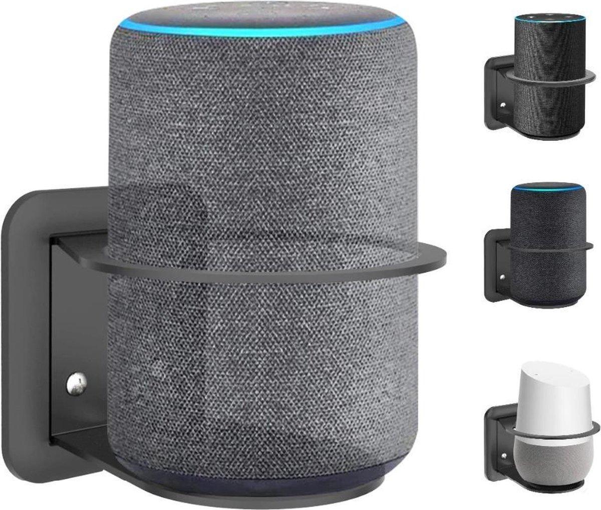 Wand Houder Case Mount Voor Google Nest Home / Amazon Echo 2 Plus Wifi Smart Speaker - Zwart