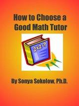How To Choose A Good Math Tutor