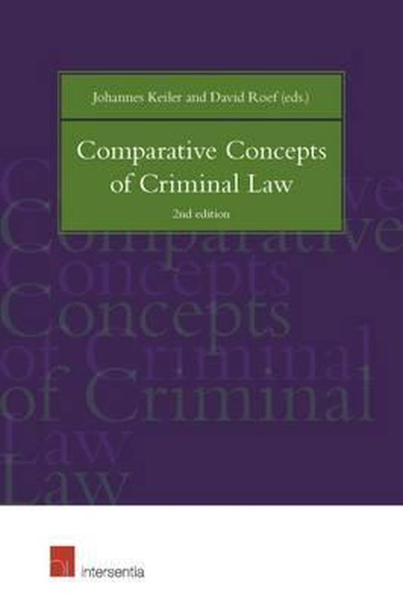 Comparative Concepts of Criminal Law - Johannes Keiler
