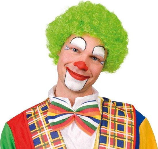 Pruik krullen clown groen