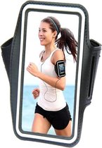 Comfortabele Smartphone Sport Armband voor uw Asus Zenfone 2 Ze550ml, zwart , merk i12Cover