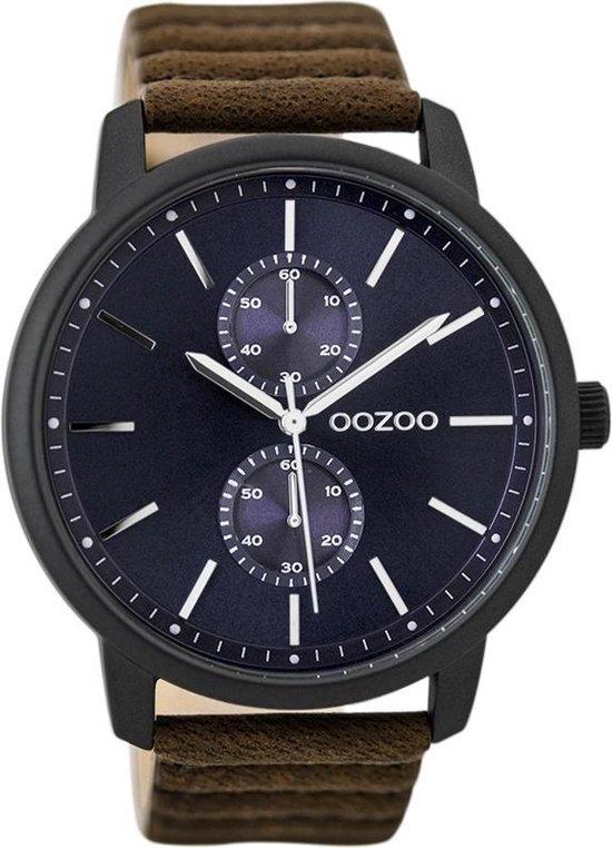 OOZOO Timepieces Bruin/Blauw horloge  (45 mm) - Bruin
