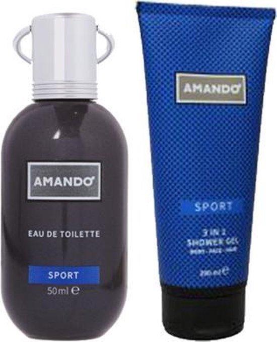 Amando Sport EDT 50ml en shower gel 200ml - Amando