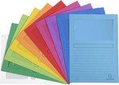 Voordeelpak 50 venstermappen assorti kleuren A4