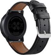 Bandje leer zwart geschikt voor Samsung Galaxy Watch 42mm en Galaxy Watch Active/Active 2