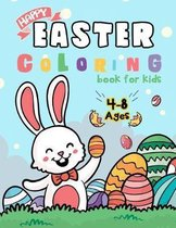 Happy Easter Coloring Book for Kids Ages 4-8