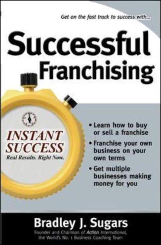 Boek cover Successful Franchising van Brad Sugars (Paperback)