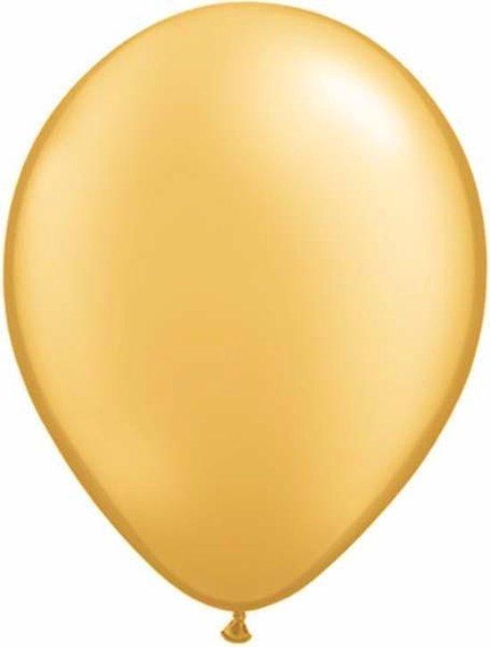 Qualatex ballonnen 100 stuks Gold