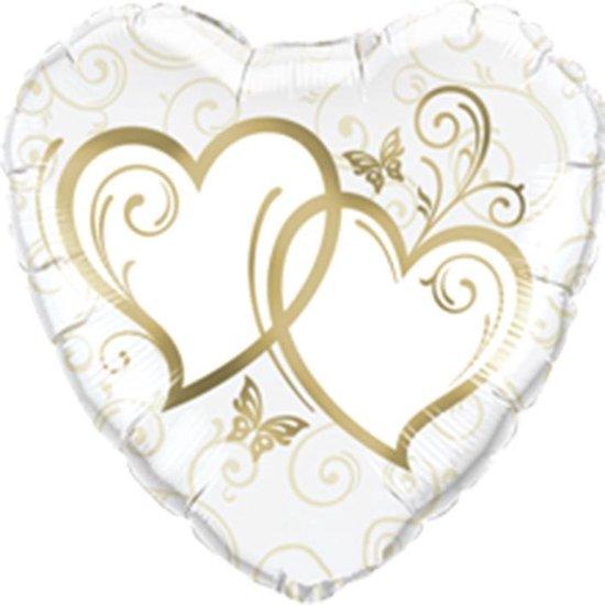 Folie hart met goud 46cm  (excl. helium)