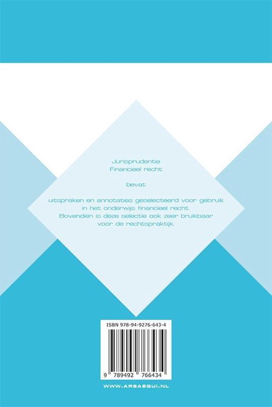 Ars Aequi Jurisprudentie  -   Jurisprudentie Financieel recht 2018 - Ars Aequi Libri Pod