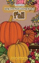 Travel Size Large Print Adult Coloring Book of Fall