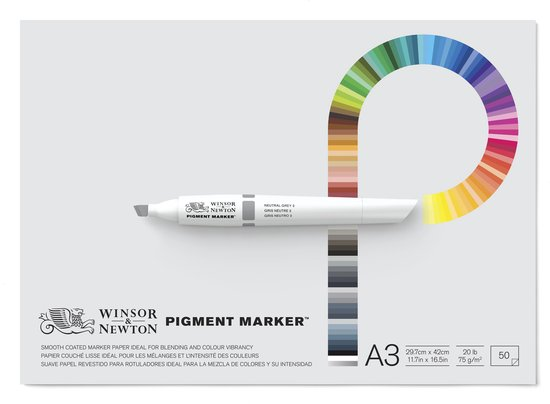 Winsor & Newton Pigment Marker papier blok A3