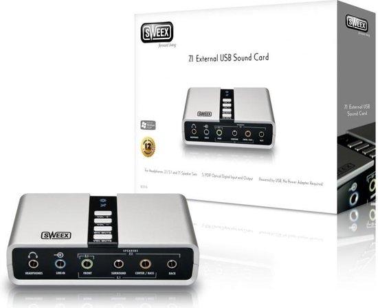 Sweex SC016 geluidskaart 7.1 kanalen USB