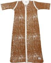 Meyco Fine Lines babyslaapzak met afritsbare mouw gevoerd - 110 cm - Camel