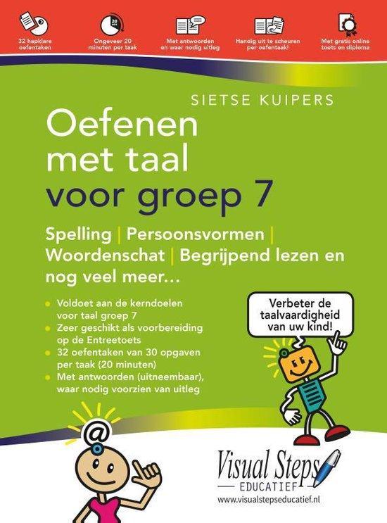 Boek cover Oefenen met taal voor groep 7 van Sietse Kuipers