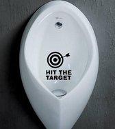 Zwarte toiletsticker Hit the Target / Raak het doel