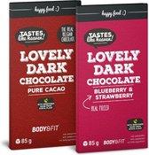 Body & Fit Smart Chocolate - Chocolade gezoet met stevia - 1 reep - Puur