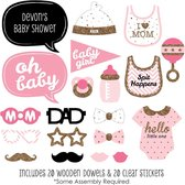 Babyshower Girl Meisje | Photobooth Prop set