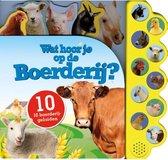 Kinderboeken Icob Boerderij - Geluidenboek: Wat hoor je op de boerderij. 3+