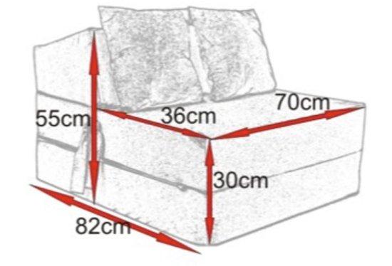 Luxe logeermatras - rood - camping matras - reismatras - opvouwbaar matras - 200 x 70 x 15 - met kussens