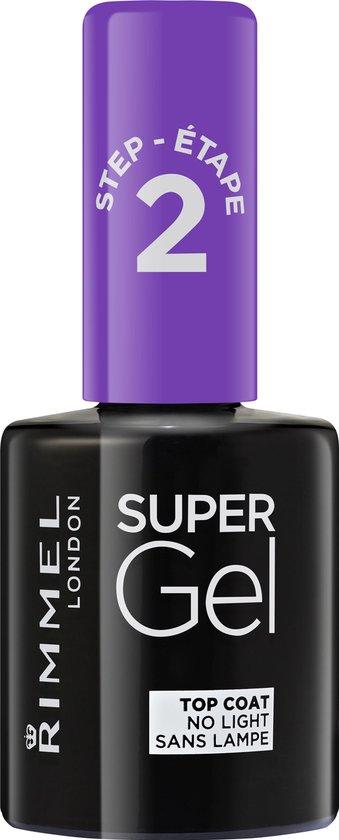 Rimmel London SuperGel Gel Nagellak Top Coat - 00 Transparant