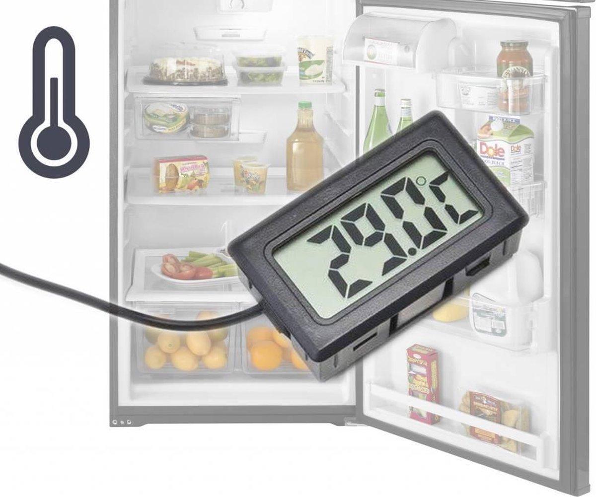 Digitale koelkast en vriezer thermometer - temperatuur meten - digitale thermometer - diepvries - Di