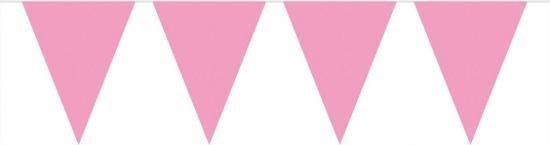 Vlaggenlijn XL licht roze 10 meter