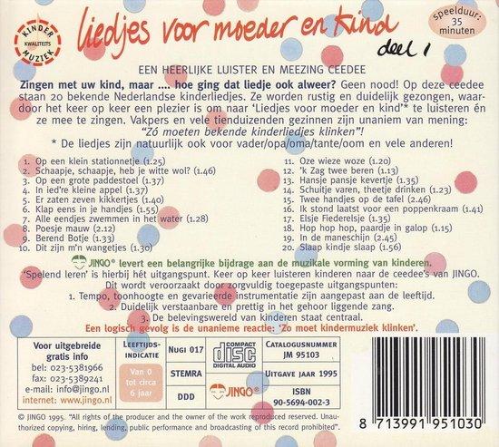 Liedjes Voor Moeder En Kind - Various