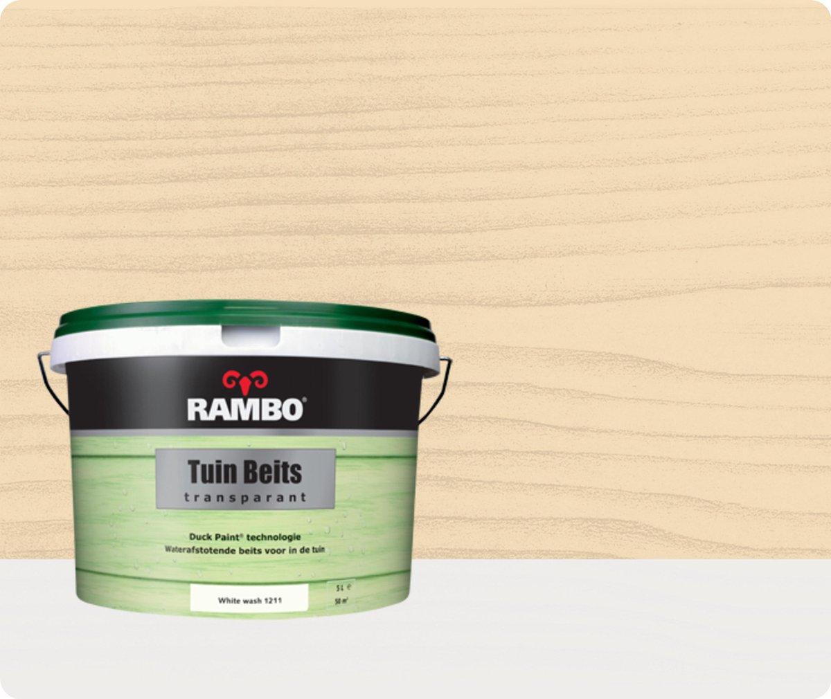 Rambo Tuinbeits - 5 liter - Whitewash - Transparant - Rambo