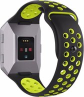 YONO Siliconen bandje - Fitbit Ionic - Zwart/Geel