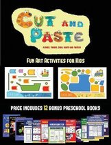 Fun Art Activities for Kids (Cut and Paste Planes, Trains, Cars, Boats, and Trucks)