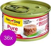 Gimdog Little Darling Pure Delight 85 g - Hondenvoer - 36 x Tonijn&Rund