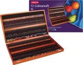 Derwent Coloursoft Potloden in houten kist 72 stuks