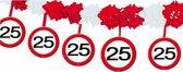 Verkeersbord slinger 25 jaar - 4 mtr - feestslingers