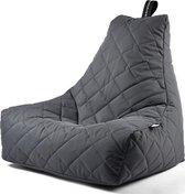 Extreme Lounging b-bag - Luxe zitzak - Indoor en outdoor - Waterafstotend - 95 x 95 x 90 cm - Polyester - Quilted Grijs