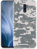 Oppo Reno Hoesje Army Digi Camouflage